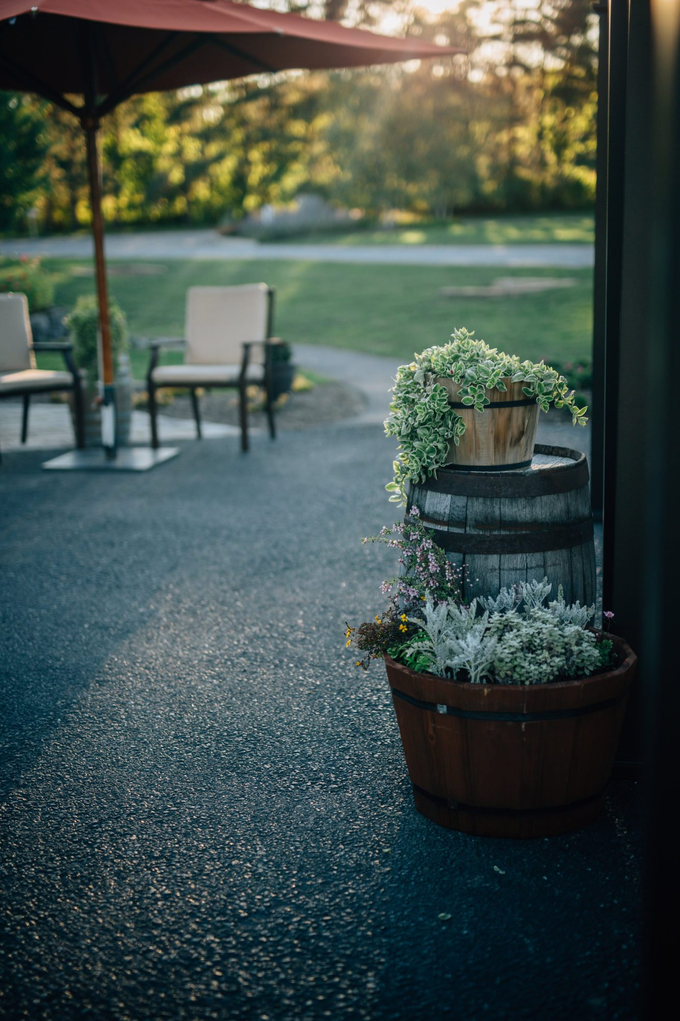 The Grounds - The beautifully manicured and inviting Hayloft in the Grove is a relaxing and unique and intimate location for your wedding - East Aurora, NY